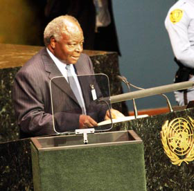 Kibaki akizungumza kwenye Umoja wa kimataifa