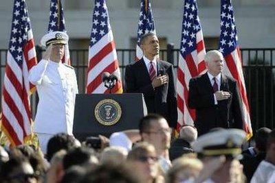 Obama akiwa makao makuu ya jeshi Pentagon