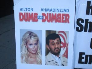 Ahmadinajad alifananishwa na Paris Hilton